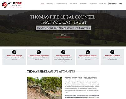 Thomas Fire Lawsuit Attorneys - Website Design