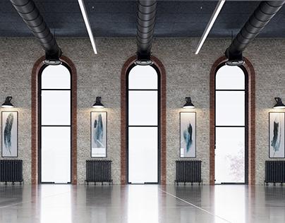 Loft Warehouse Interior 3dsMax Vray Scene