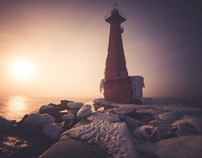 Frozen Michigan Lighthouses- Feb 2021
