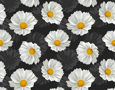 Cosmos Flowers Pattern