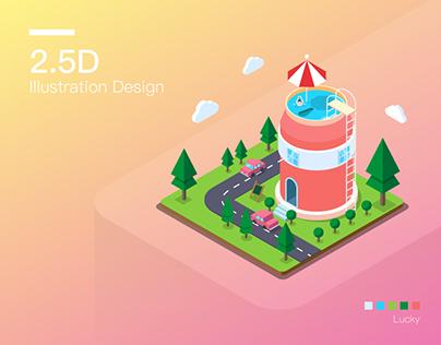 2.5D Illustration practice