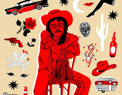Terry Allen for LA Record magazine