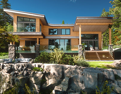 Forest House Overlooking Burrard Inlet Full CGI