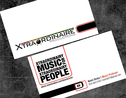 Xtraordinaire Productions - Logo and Stationery Design