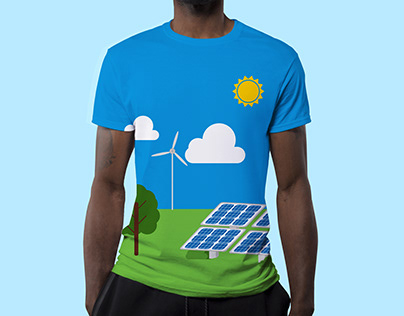 T-Shirt design - Solar Farm