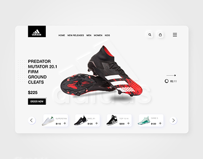 Adidas website redesign