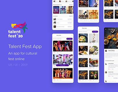 Online Cultural Fest App