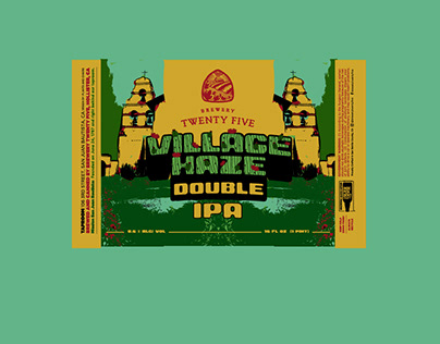 Village Haze - Beer Label