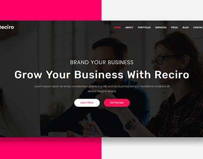 Brand - Creative Agency Web Template on Behance