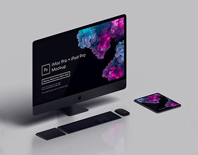 iMacPro + iPadPro Mockup