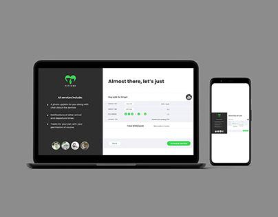 Email Receipt Screen Design for Website or Webapp
