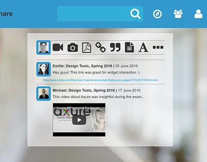 Designing an educational content sharing platform