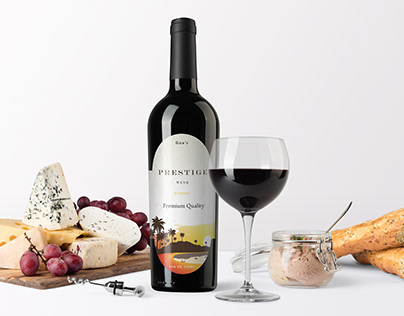Premium Wine Branding UI