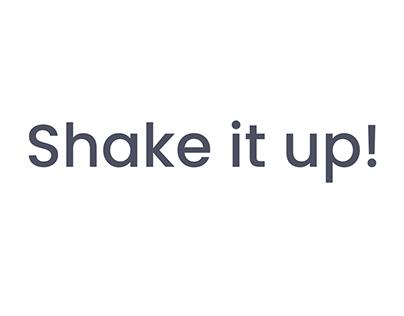 Shake it Up - Habit tracking app prototype