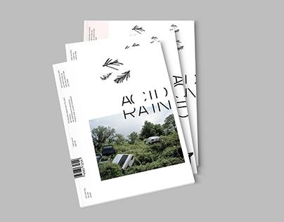 Magazine design. Acid Rain