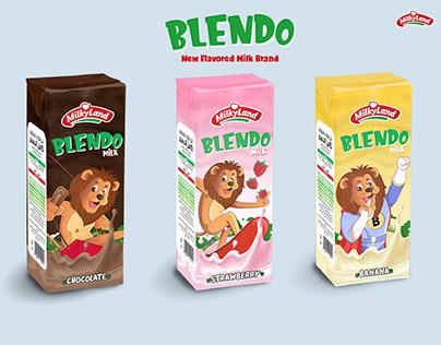 Blendo Flavored Milk Branding and Packaging