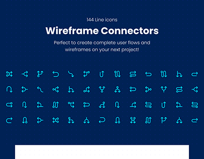 Wireframe Connectors Icon Pack