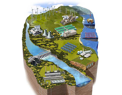 Renewable energy sources, a project for Exxon/Mobil