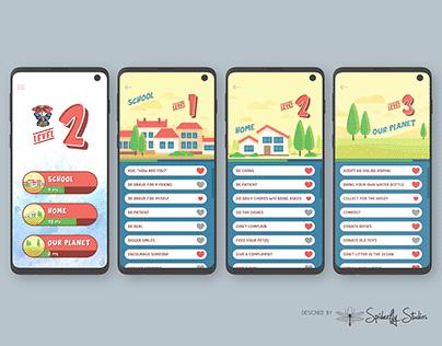 Pika Bunny Kindness Tracker - App Design