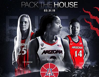 2019 University of Arizona Women's Basketball Designs