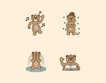 Cute Little Bear (sticker pack) by Milos Subotic