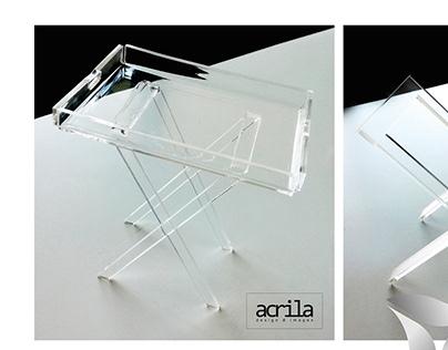 Mobilier acrylique et toile tendue