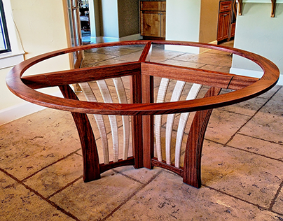 Bubinga & Glass Dining Table