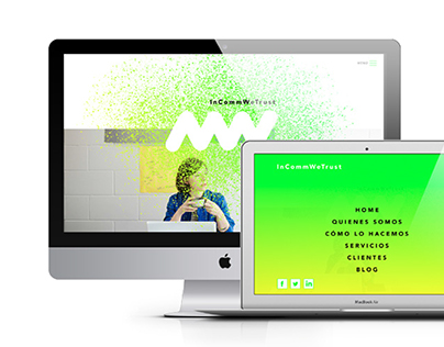 WEB desing for IN COMMON WE TRUST