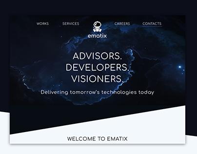 Re-design of Ematix consulting company web-site