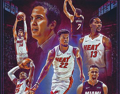 2019-2020 Miami Heat poster design