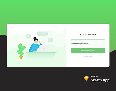Forgot Password Concept
