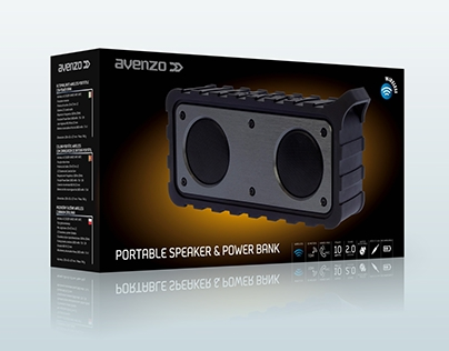 Packaging Altavoces Rugged Speakers de Avenzo