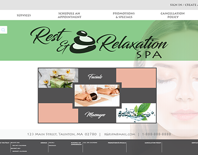 Web Project - Rest & Relaxation Spa Website Prototype