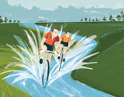 Witoor: Illustrazione per Bicigrill Il Mulino