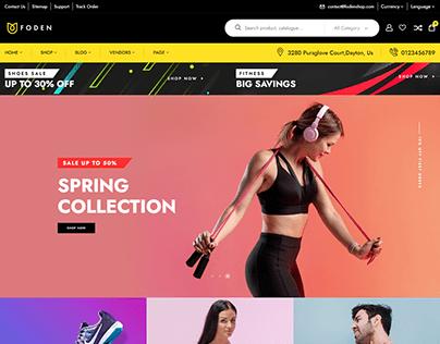 Sports wordpress website design