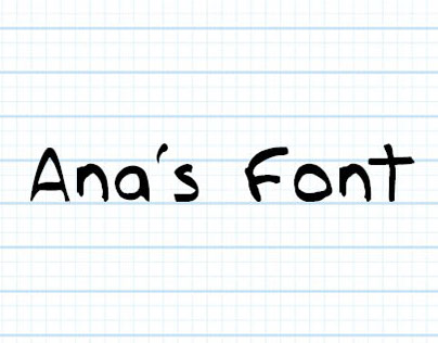 Ana's Font