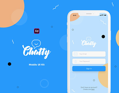 Chatty Mobile UI Kit