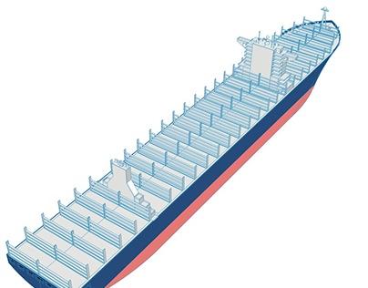 Container Ship - Bouguainville - Le Monde Newspaper