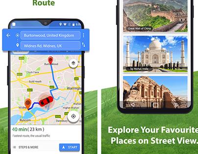 GPS navigation UI & Screenshots