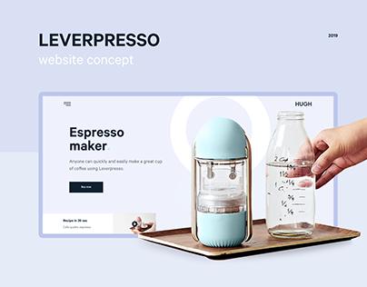 Leverpresso - Website concept