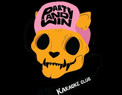 Party and Win Karaoke Club Logo