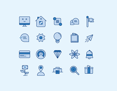 Apsicon - Simple Icons for user interface design