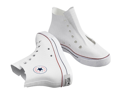 Converse shoes 3d model from reference images