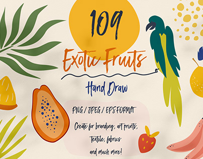 Exotic Fruit Hand Draw collection!