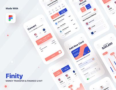 Finity - Banking, Finance & Money Transfer UI Kit