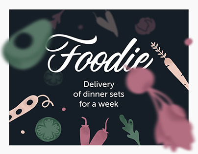 Foodie. Delivery service.