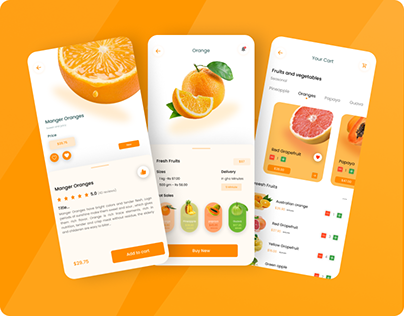 Fresh Fruits Mobile Apps Design