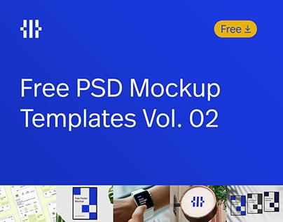 Free PSD Mockup Templates Vol. 02