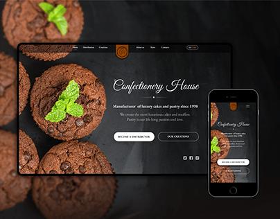 CAKE MANUFACTURER website design concept