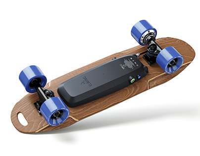 Electric skateboard visual